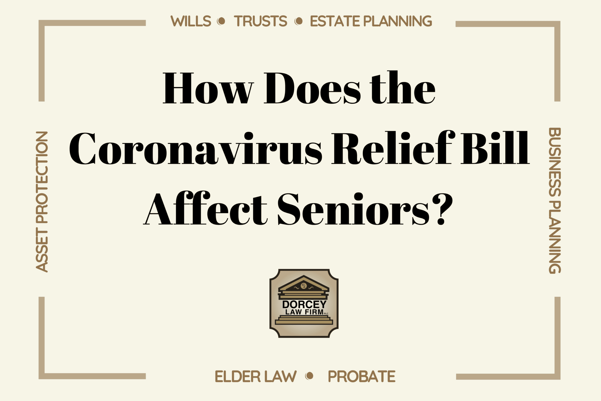 How Does the Coronavirus Relief Bill Affect Seniors?