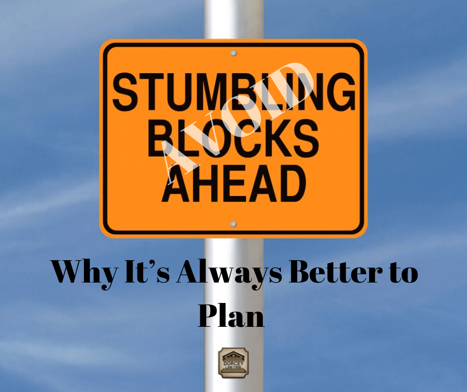 Avoid Stumbling Blocks Ahead- Why it's always better to plan Text
